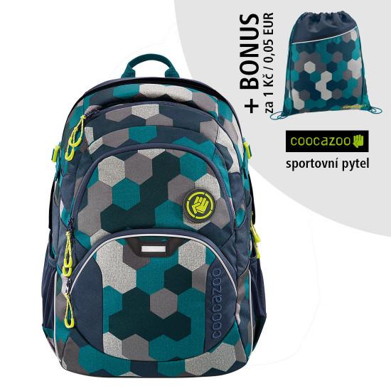 Školský batoh Coocazoo JobJobber2, Blue Geometr + športový vak za 0,05 EUR