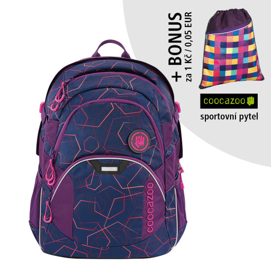 Školský ruksak Coocazoo JobJobber2, Laserbeam Plum + športový vak za 0,05 EUR