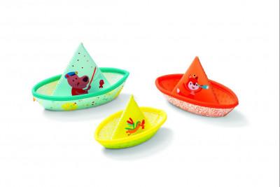 Lilliputiens – 3 plávajúce lodičky – hračka do vody