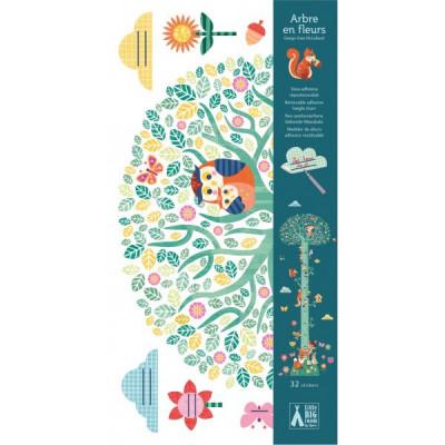 Samolepiaci detský meter – Kvitnúci strom a lesné zvieratká