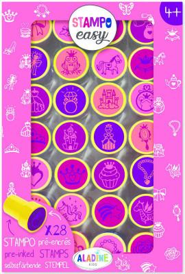 Samonamáčacie pečiatky StampoEasy, princezné
