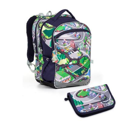 Školský batoh a peračník Topgal - COCO17001 B + PENN17001 B