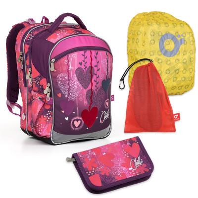 Set pre školáka Topgal - COCO17002 G + PENN17002 G + vrecko na prezuvky, pláštenka na batoh