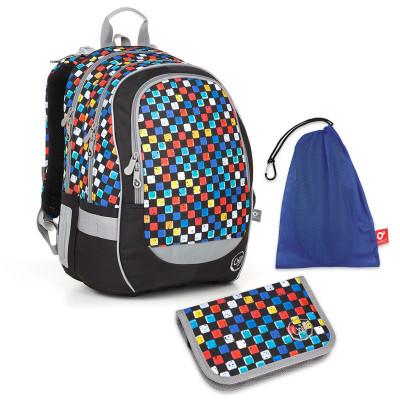Set pre školáka CODA 18020 B SET MEDIUM - Školská taška, Vrecko na prezuvky, Školský peračník