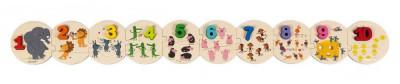 Vkladacie puzzle pre deti Čísla