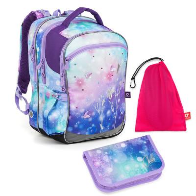 Set pre školáčku CODA 18045 G SET MEDIUM - Školská taška, Vrecko na prezuvky, Školský peračník