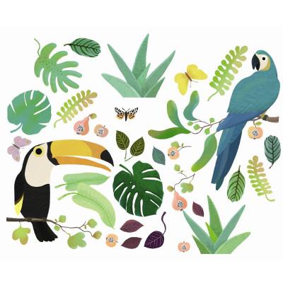 Samolepiace dekorácie na sklo – Džungľa