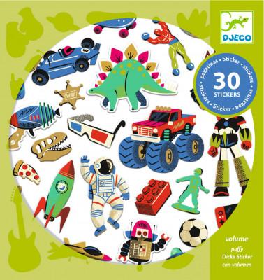 Samolepky – Retro hračky – 30 ks