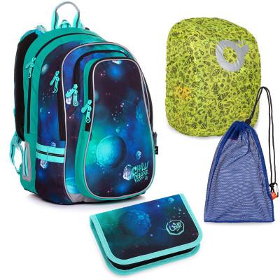 Set pre školáka LYNN 20019 B MEDIUM - školská taška, vrecko na prezuvky, školský peračník
