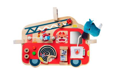 Lilliputiens – drevený panel s aktivitami – hasičské vozidlo