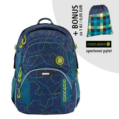 Školský batoh Coocazoo JobJobber2, Laserbeam Blue + športový vak za 0,05 EUR