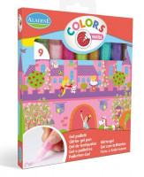 Ligotavé kreatívne lepidlá, sada 9 ks, pastelové farby