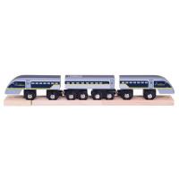 Bigjigs - Rýchlík Eurostar E320 + 3 koľaje