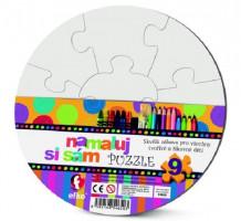 Namaľuj si sám puzzle - kruh