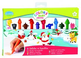 Veselé voskové pastelky, Vianoce, 12 ks