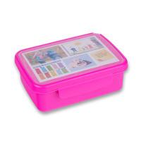 Desiatový box Zdravá desiata- ružový flou