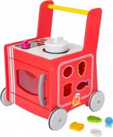 Drevený vozíček - červená kuchynka