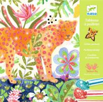Výtvarná hra s trblietkami – tropické zvieratá