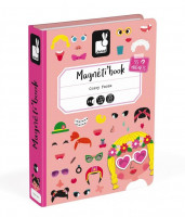 Magnetická kniha - skladačka Zábavné tváre - dievčatá