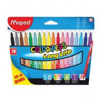 Detské fixky Maped Color´ Peps- 18 farieb