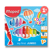 Detské fixky Maped Color´Peps Jumbo - 12 farieb