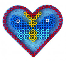 Hama Maxi podložka priehľadná - srdce