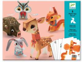 Origami Zvieratká z lesa – papierová skladačka