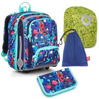 Set pre školáka BEBE 18003 B SET LARGE - školská aktovka, vrecko na prezuvky, pláštenka na batoh, školský peračník
