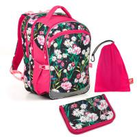Set pre školáčku COCO 18004 G SET MEDIUM - Školská taška, Vrecko na prezuvky, Školský peračník