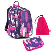 Sada pre školáčku LYNN 18009 G SET MEDIUM - školská taška, vrecko na prezuvky, školský peračník