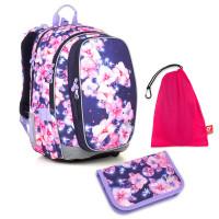Sada pre školáčku MIRA 18019 G SET MEDIUM - školská taška, vrecko na prezuvky, školský peračník