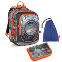 Sada pre školáka ENDY 18018 B SET MEDIUM - Školská taška, Vrecko na prezuvky, Školský peračník