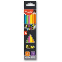 Pastelky Maped Color´s Peps Fluo- 6 farieb