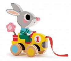 Ťahací králik s kvetinkou