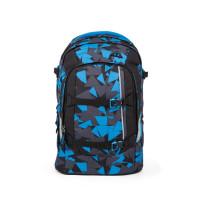 Študentský batoh Ergobag Satch - Blue Triangle
