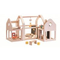 Prenosný domček pre bábiky