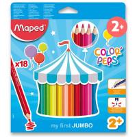Pastelky Maped Color´Peps Jumbo – 18 farieb