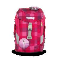 Detský batoh Ergobag mini - purpurový károvaný