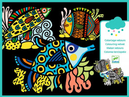 Zamatové maľovanie – Rybky