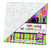 Namaľuj si sám puzzle - štvorec