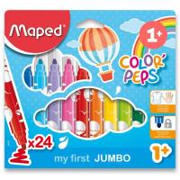 Dětské fixy Maped Color´Peps Jumbo - 24 farieb