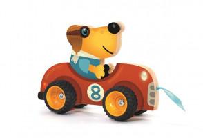 Drevené auto – ťahacia hračka