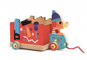 Drevený kamión – ťahacia hračka