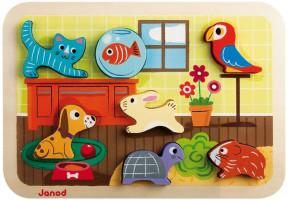 Drevené vkladacie puzzle pre najmenších Zvieratká