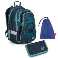 Set pre školáka LYNN 19018 B SET MEDIUM - školská taška, vrecko na prezuvky, školský peračník