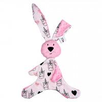 Mom's Care – ružový králiček – muchláčik do postieľky