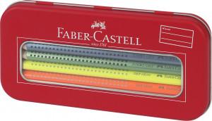 Farbičky Faber-Castell Jumbo Grip Neon v darčekovej krabičke - 10 farieb