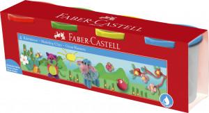 Modelovacia hmota Faber-Castell v kelímkoch 4x110g