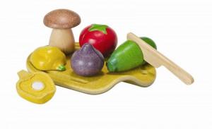 Krájanie na doštičke – súprava so zeleninou