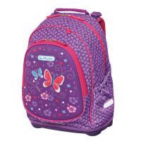 Školský batoh Herlitz Bliss - Fialový motýľ